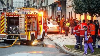 Nueve heridos en una explosión de gas en una vivienda de Salamanca