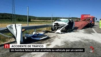 Fallece un varón de 59 años en un accidente de tráfico en Fresnillo de las Dueñas, Burgos