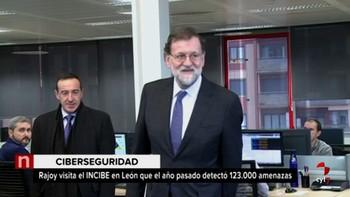 Mariano Rajoy inicia en el Incibe su visita institucional a la capital leonesa