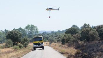 La Junta rebaja a nivel 0 de Infocal el incendio de Ferreruela de T�bara, Zamora