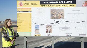 Pastor marca como prioridad impulsar las obras de la Autov�a del Duero entre Aranda y Soria