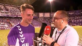 Hablamos con los jugadores del Real Valladolid a pie de campo
