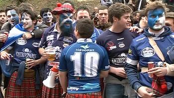 Así han vivido los aficionados del Quesos y El Salvador la final de la Copa del Rey de Rugby