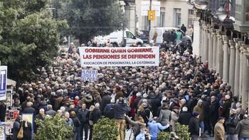 Miles de personas reclaman pensiones dignas en Castilla y León y protestan por el índice actual de revalorización