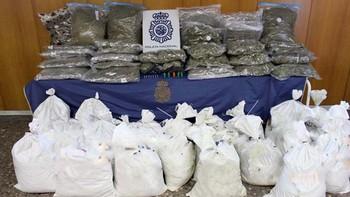 La Policía Nacional desarticula en Madrid y Burgos una organización criminal que enviaba marihuana a Reino Unido en botes de pintura