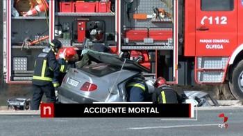 Dos fallecidos en un accidente en la N-122 cerca de Villar del Campo, Soria
