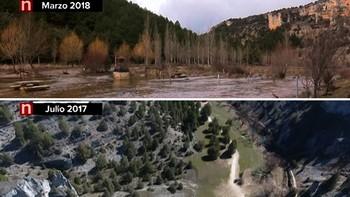 El antes y el ahora del Cañón del Río Lobos en Soria