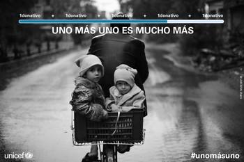 CYLTV se suma el miércoles a la campaña de UNICEF 'Uno más uno, es mucho más'