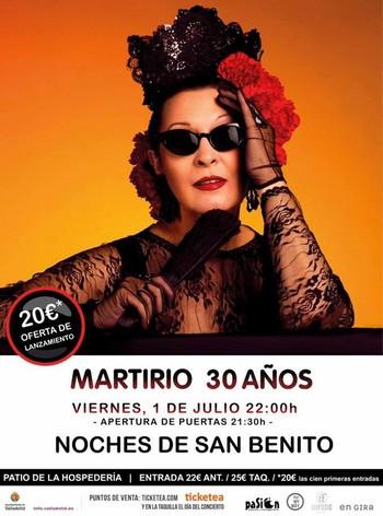 Martirio, Pedro Guerra, Amancio Prada, Juan Perro y Carmen Souza actuar�n en las Noches de San Benito