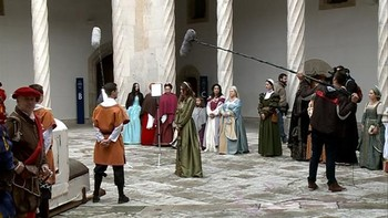 El rodaje de 'Carlos V: Los caminos del Emperador' hace parada en Valladolid