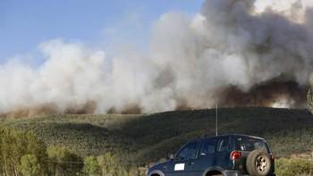 La Junta declara el nivel 1 en el incendio de Santa Colomba de Curueño (León)
