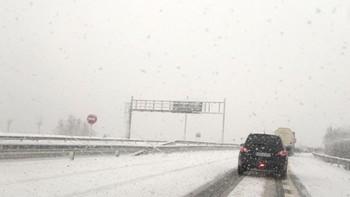La nieve complica el tráfico en varios tramos de la red principal de León, Zamora, Segovia y Ávila