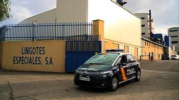 Una explosión en el horno de fundición de Lingotes Especiales obliga a intervenir a los bomberos de Valladolid