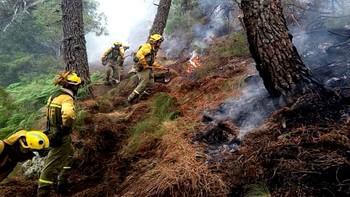 El incendio de El Hornillo mantiene el nivel 1