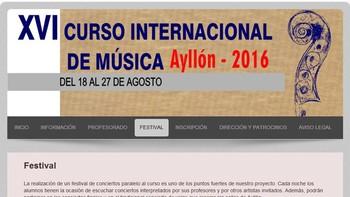 El XVI Festival Internacional de M�sica ofrecer� ocho conciertos en Ayll�n, Segovia