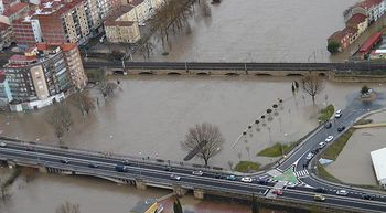 Miranda de Ebro sufre una de las peores inundaciones de las �ltimas d�cadas