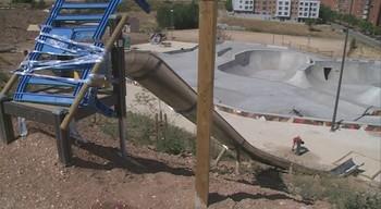 La polic�a cierra el parque de toboganes de San Isidro en Burgos tras s�lo un mes de su inauguraci�n