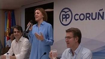 Cospedal afirma que la edad de Casado 'no supone regeneración' y señala su candidatura como 'próxima' a Aznar