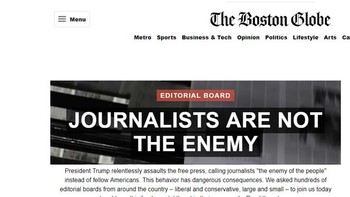 Más de 300 periódicos se alían contra Trump por sus ataques contra los medios
