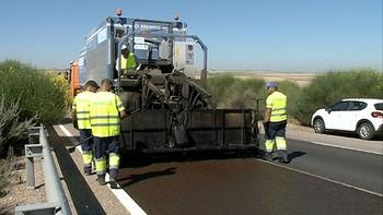 Se acabaron los baches y las vibraciones en la A-62 entre Salamanca y Valladolid