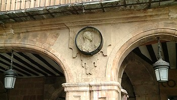 El espacio del medallón de Franco en la Plaza Mayor de Salamanca quedará vacío