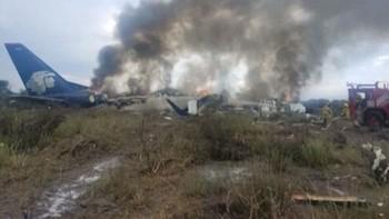 Un avión de Aeroméxico se estrella poco después de despegar desde Durango, sin dejar víctimas mortales