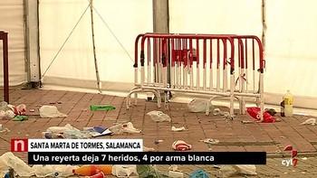 Una reyerta en Santa Marta de Tormes, Salamanca, acaba con siete heridos, cuatro de ellos por arma blanca