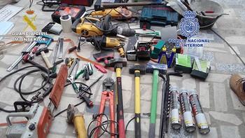 Desarticulado un grupo responsable de 39 robos en polígonos industriales y comercios