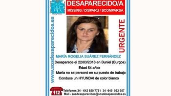 Buscan a una mujer de 54 años desaparecida en Buniel (Burgos) desde el pasado jueves