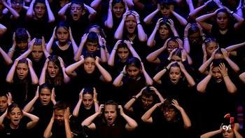 Tres mil escolares cantan al miedo en el Auditorio Miguel Delibes