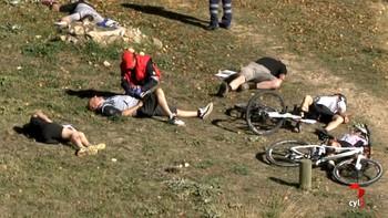 Sanitarios de emergencias realizan un simulacro en Segovia