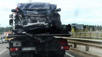 Una avispa provoca un choque entre dos coches en Palencia con cuatro heridos, dos de ellos graves