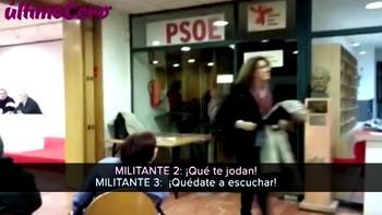 Militantes 'Sanchistas' se revelan en Valladolid contra Soraya Rodríguez