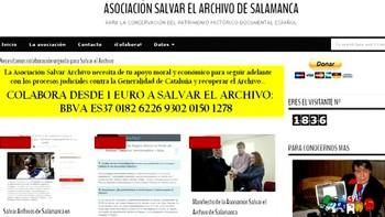 Salvar el Archivo de Salamanca pide al Gobierno que devuelva los documentos en poder de la Generalitat antes del 21D