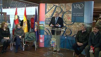 La Diputaci�n de Palencia rinde homenaje al descubridor de la villa romana de La Olmeda