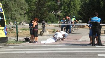 Una anciana muere atropellada por un ciclista en Burgos