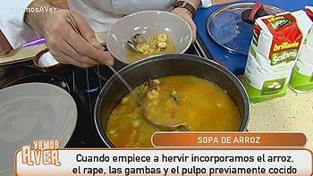 Para el fr�o... �Una sopa de arroz con tropezones!