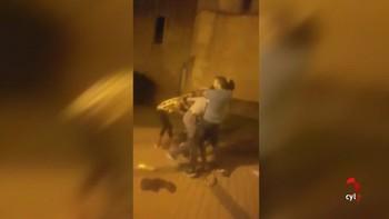 Fuerte enfrentamiento entre un grupo y dos agentes de la Policía Nacional de paisano en Soria