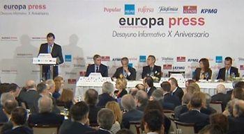 Mariano Rajoy anuncia que la econom�a crecer� un 2,9 por ciento