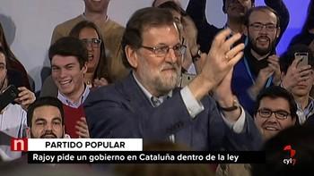 Rajoy ve 'ilegal y sin lógica' que Puigdemont sea investido y advierte de que si ocurre 'el 155 sigue en vigor'