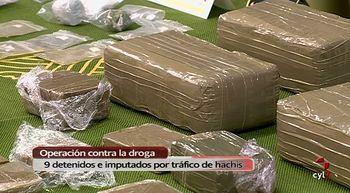 Incautados 8 kilos de hach�s y 9 detenidos o imputados por tr�fico de drogas en Valladolid y Madrid