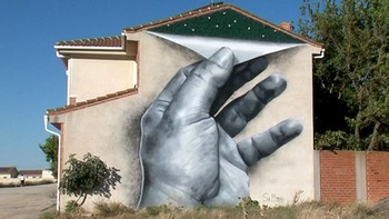 Arte callejero en las Nava de la Asunción en Segovia