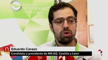 Carazo afronta su segundo mandato al frente de NNGGCyL con el objetivo de 'dejarse la piel' para que el PP gane en 2019