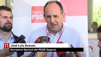 Aceves fija como reto para el PSOE de Segovia recuperar el gobierno de la Diputación