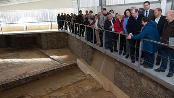 Herrera confía en que la villa romana de Camarzana de Tera, Zamora, impulse la actividad económica de la zona