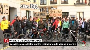 Una quincena de clubes y asociaciones ciclistas piden que no se restrinja el uso de la bici en el Parque Nacional Sierra de Guadarrama