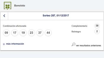 La BonoLoto deja más de 50.000 euros en Ponferrada, León