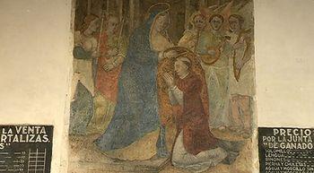 Las pinturas murales de las Reales Carnicer�as de Medina del Campo lucen restauradas