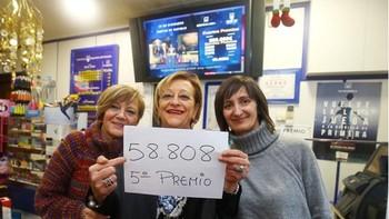 El 58.808 lleva un quinto premio a Ponferrada, Salamanca, Soria, Trabazos (Zamora) y Valverde del Majano (Segovia)