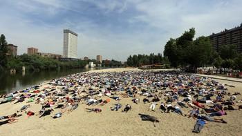 Valladolid escenifica el drama de los refugiados; 5.000 muertos en 2016